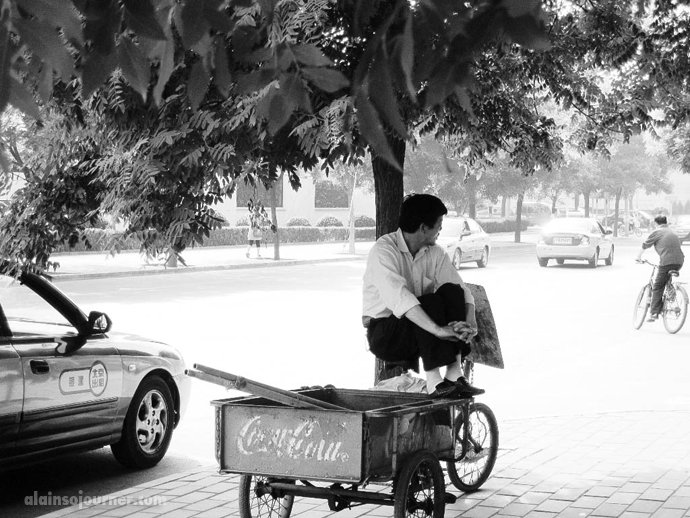 Pedicabs in China.