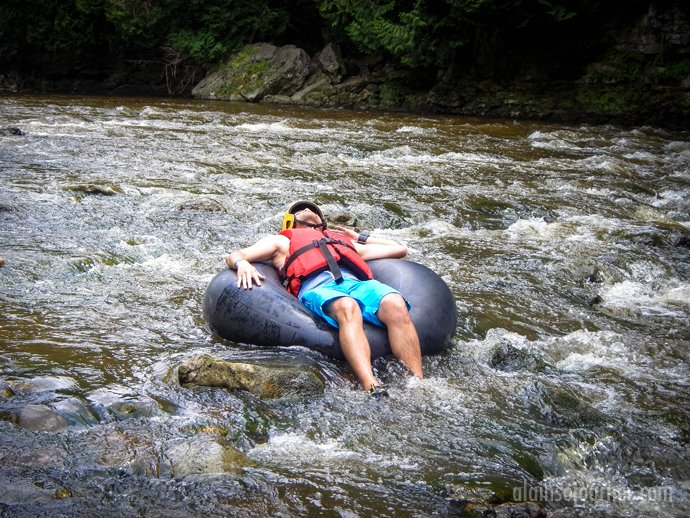 Tubing at Elora Gorge Grand River