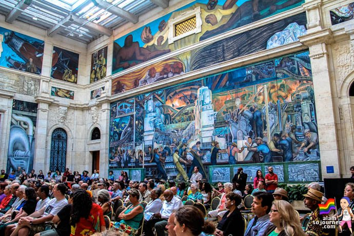 Diego Rivera Murals inside the Detroit Institute of Arts (DIA).