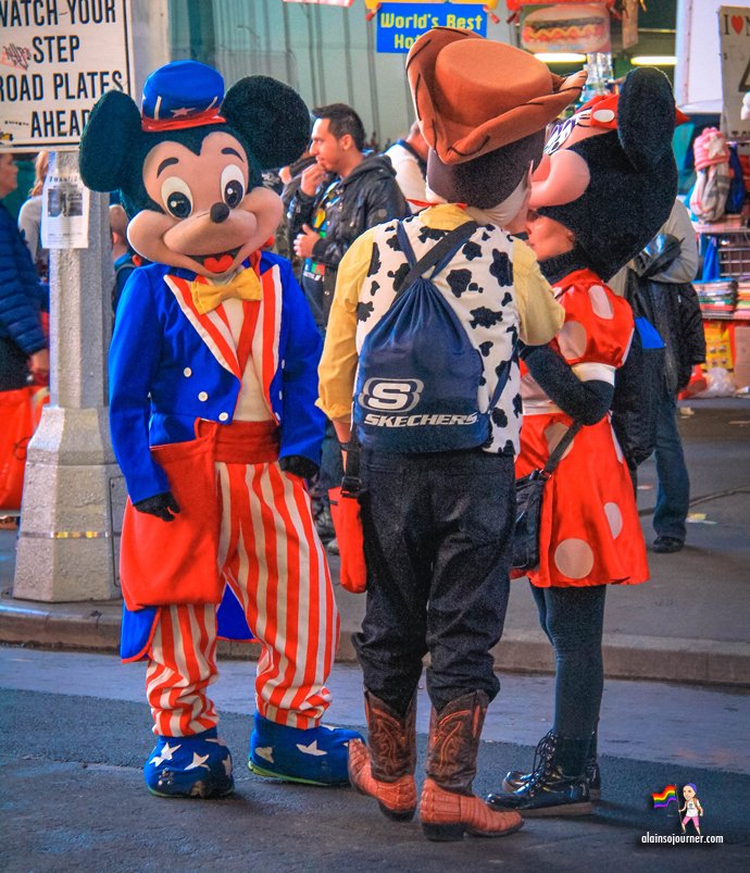 Times Square Buskers Disney Characters