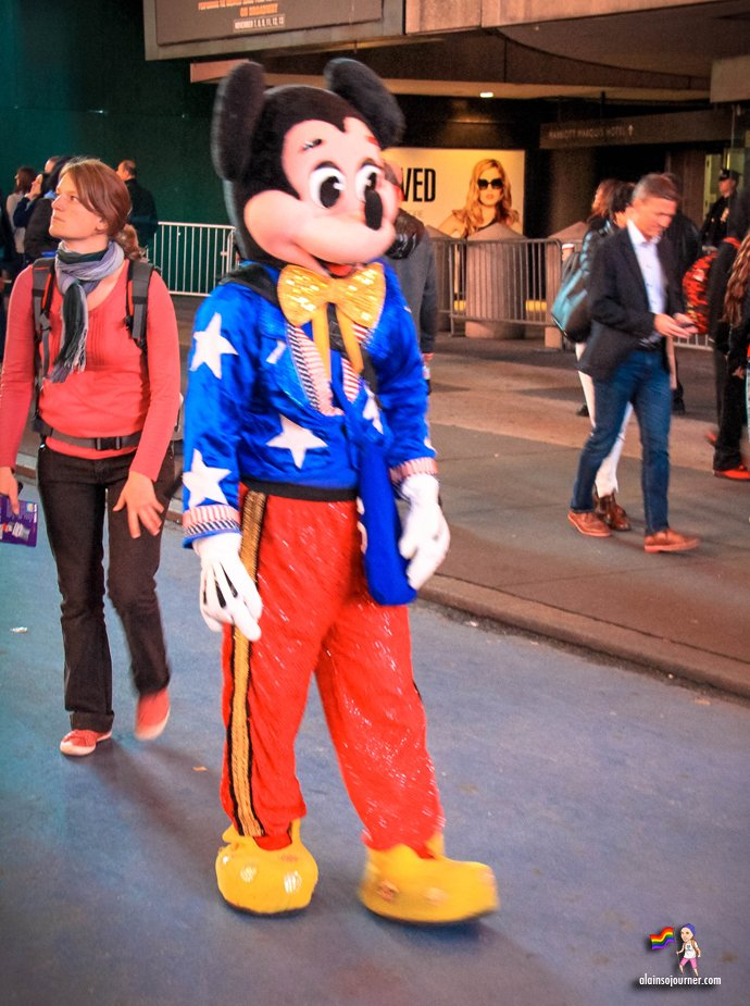 Times Square Buskers Mickey Mouse