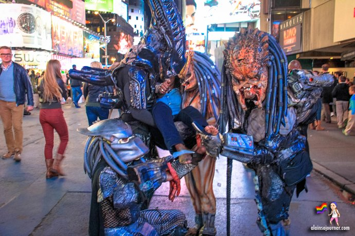 Times Square Buskers Monsters