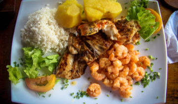 Cuban cuisine Mixed grilled seafood