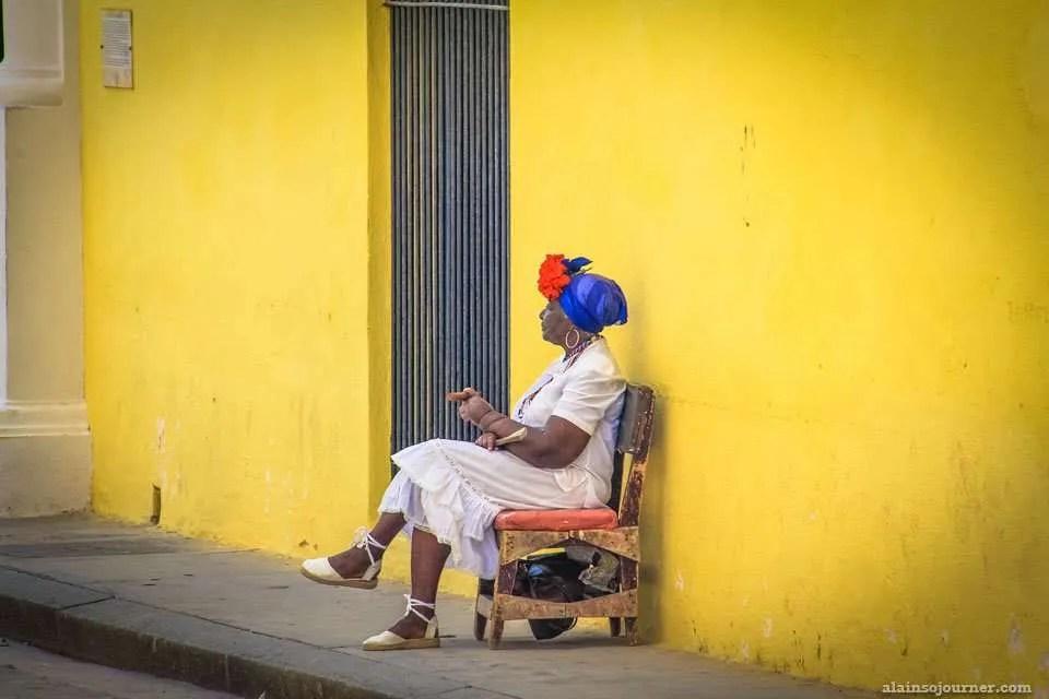 Havana Woman in a Costume
