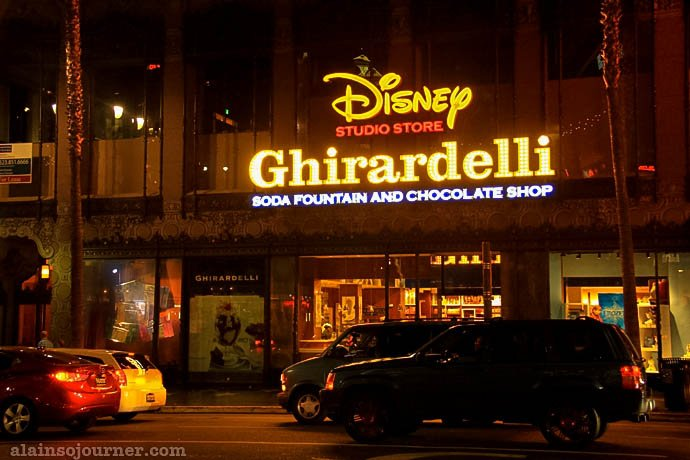 Ghirardelli Chocolate Hollywood Boulevard Los Angeles