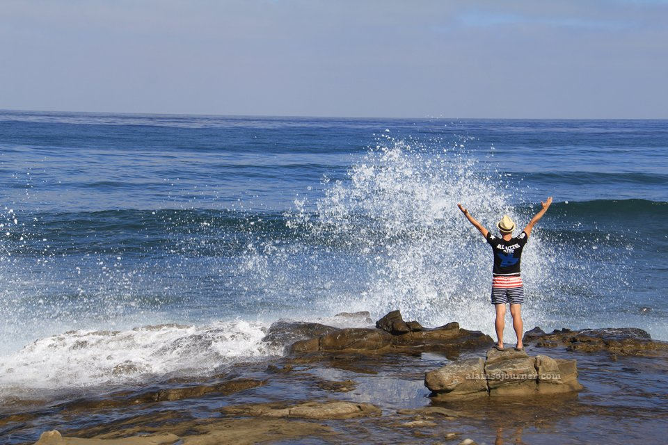 I Made the waves roar at La Jolla Coves Cliffs San Diego California