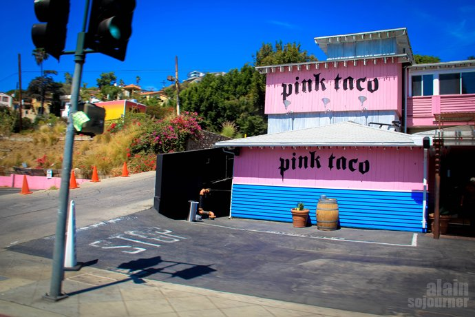 The Pink Taco on Sunset Boulevard.