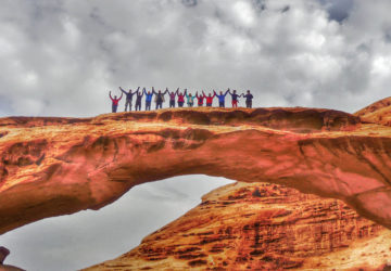 Things to do and see on Jordan: walk this bridge.