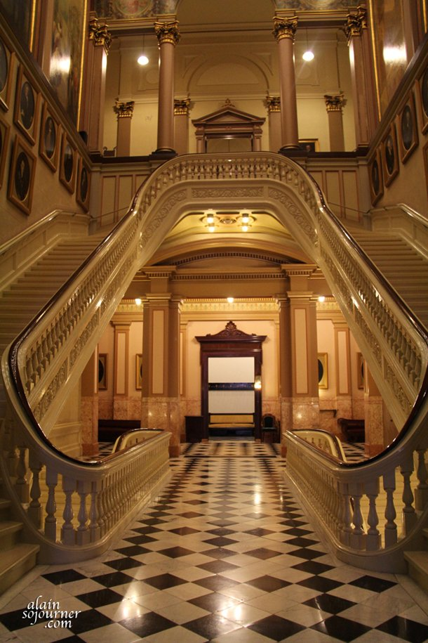 The Grand Staircase inside the Masonic Temple in Philadelphia.