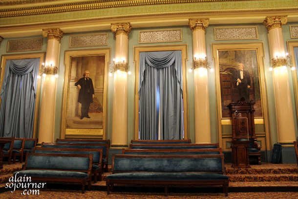 Ionic Hall inside the Masonic Temple in Philadelphia.