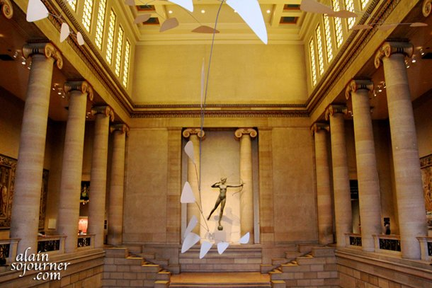 The Sculpture of Diana, the huntress at Museum of Arts