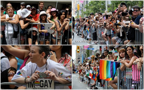 2012 The Crowd at Toronto Pride Parade.