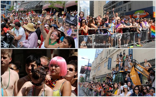 2012 Crowd at Toronto Pride Parade.