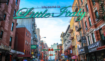 Welcome to Little Italy in New York!