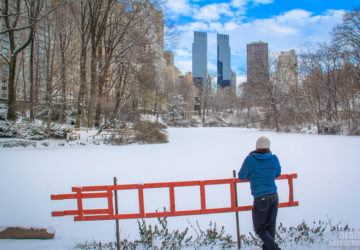 New York's Central Park in Snow.