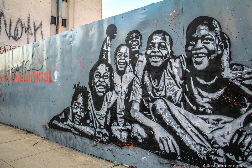 Black is beautiful mural