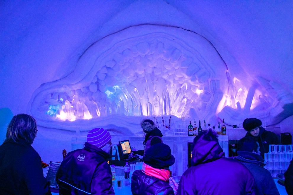 The Ice Bar at the Ice Hotel in Quebec City / Hotel de Glace.
