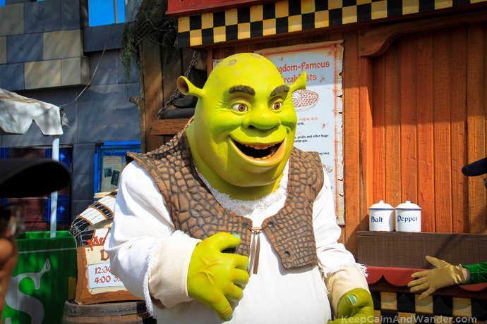 Shrek at the Universal Studios Parade.