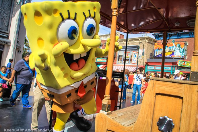 Sponge Bob Square pants at Universal Studios Parade.