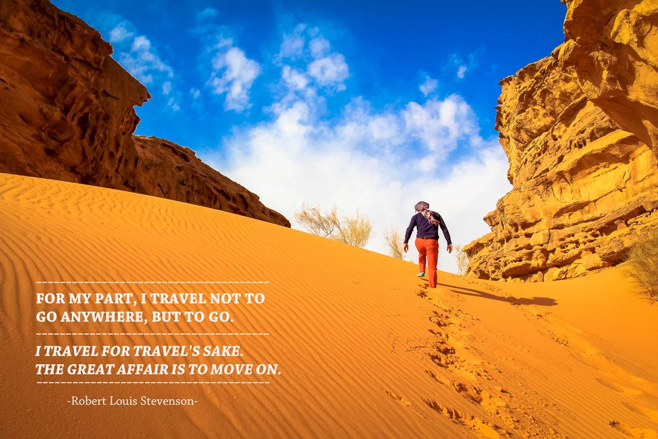 Robert Louis Stevenson  Travel Quote