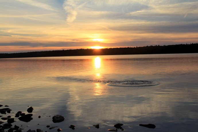 sunset tobermory