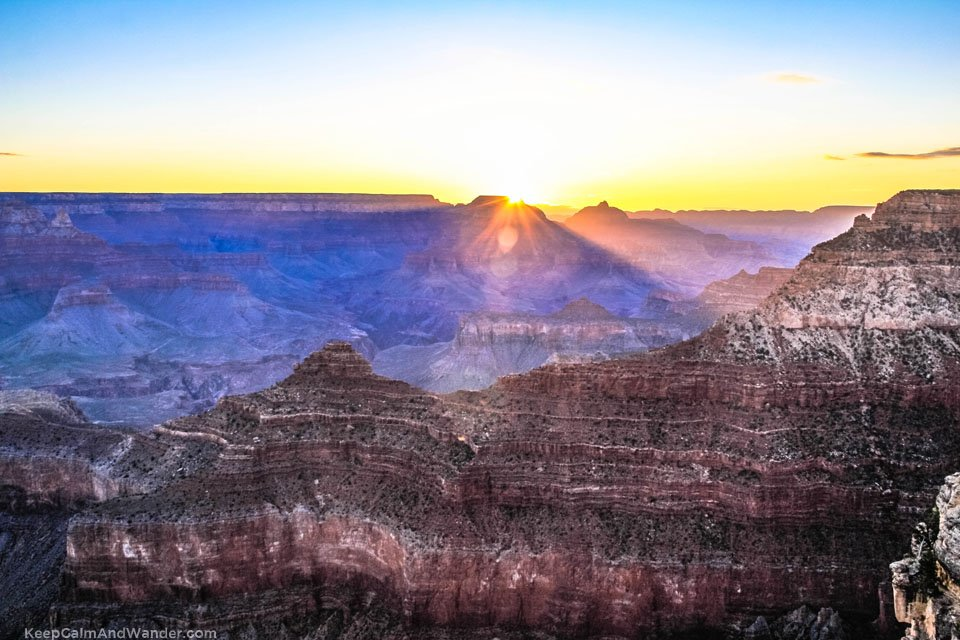 Grand Canyon Sunrise at Mather Point.
