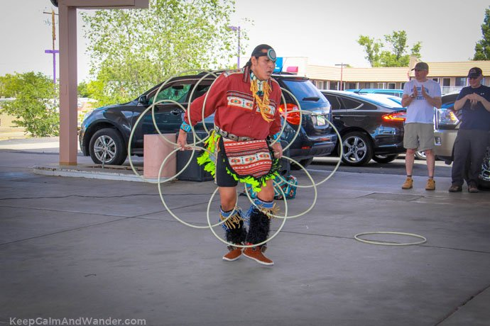 The Indian-Navajo Hoop Dance at Page, Arizona.