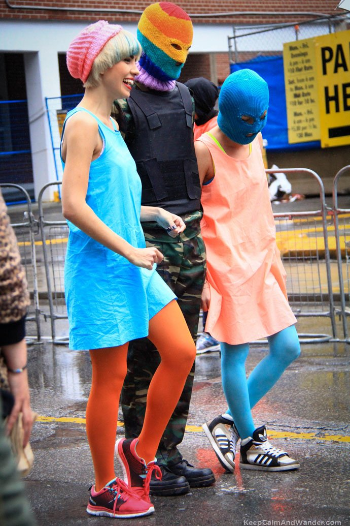 Pussy Riot Led 2015 Toronto Pride Parade despite drizzle and cold weather.