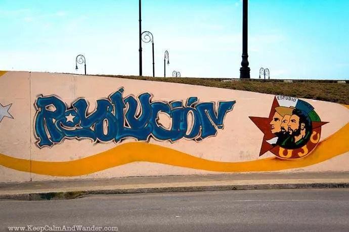 Grafitti in Havana, Cuba.