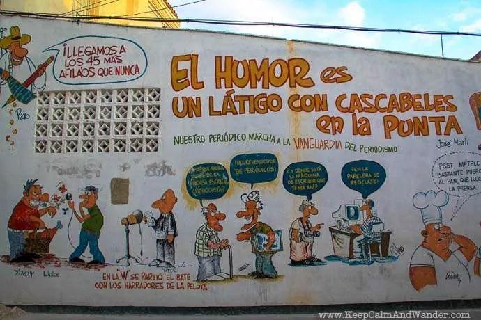 Murals of Propaganda in Santa Clara, Cuba.