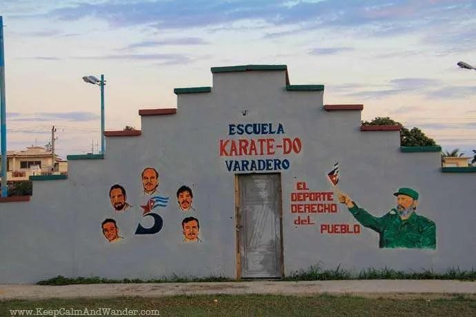 Murals of Propaganda in Varadero, Cuba.