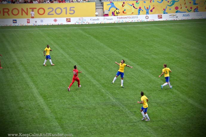 Brazil and Panama Soccer Match at PanAm Games 2015.