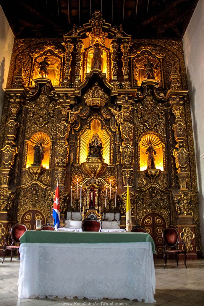 This Church Altar in Remedios is Made of Gold / San Juan Bautista de los Remedios / Cuba.