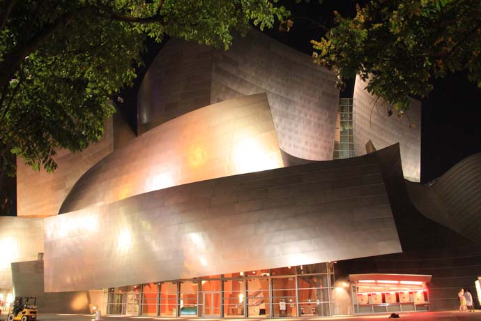 Walt Disney Concert Hall is simply stunning at night!