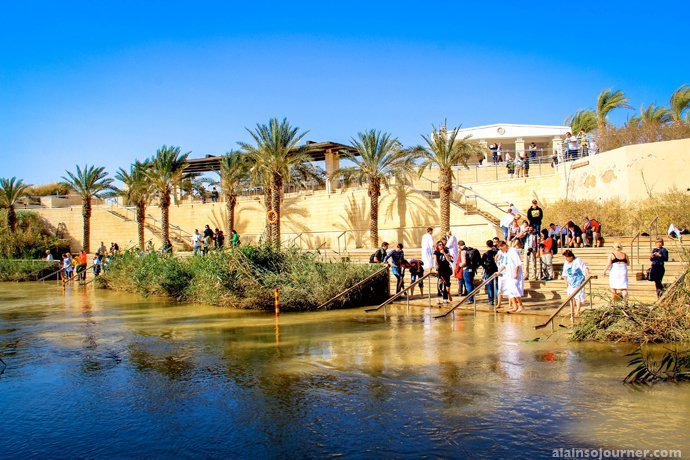 River Jordan Where Jesus Christ was baptized.