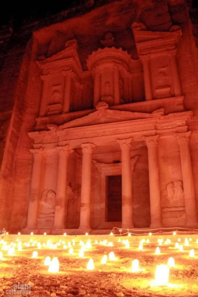 Petra By Night Jordan The Treasury