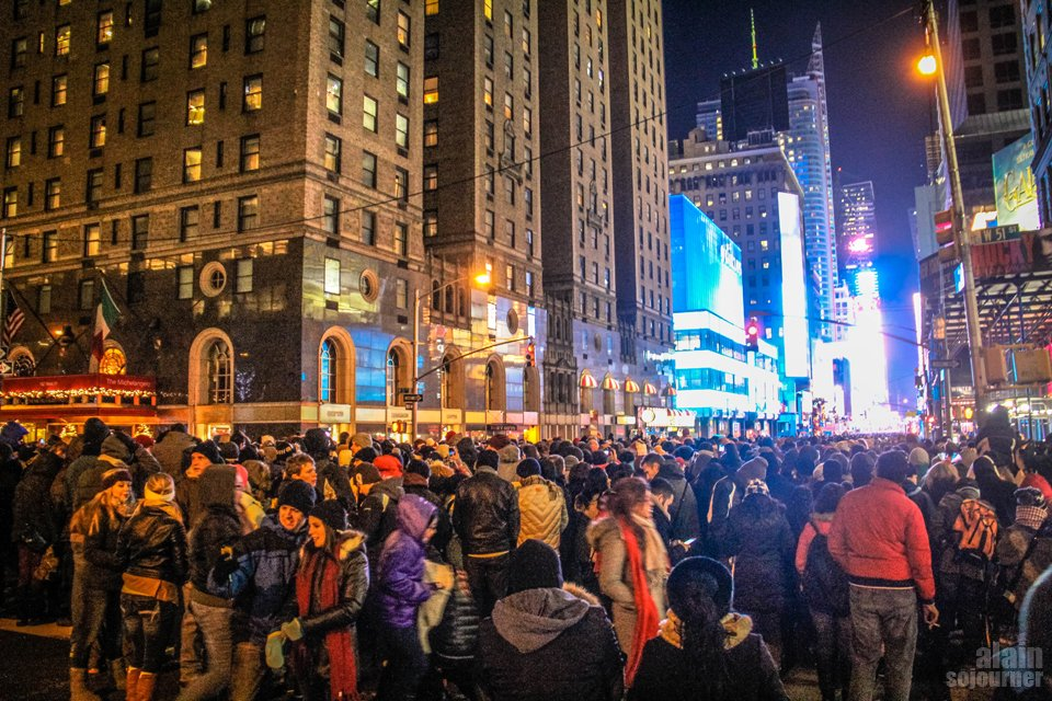 2015 Times Square New Year Countdown in New York.