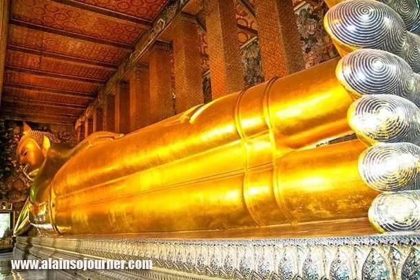 Wat Pho Reclining Buddha in Bangkok.