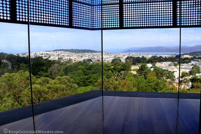 View from De Young Museum California