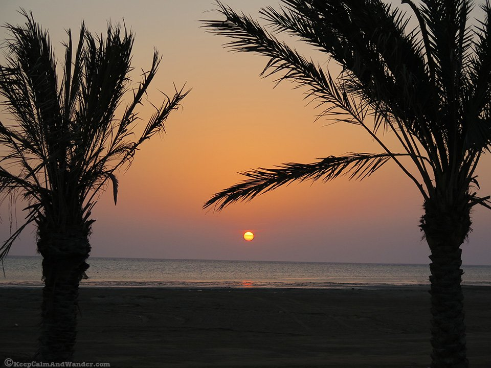 Sunset in Saudi Arabia.