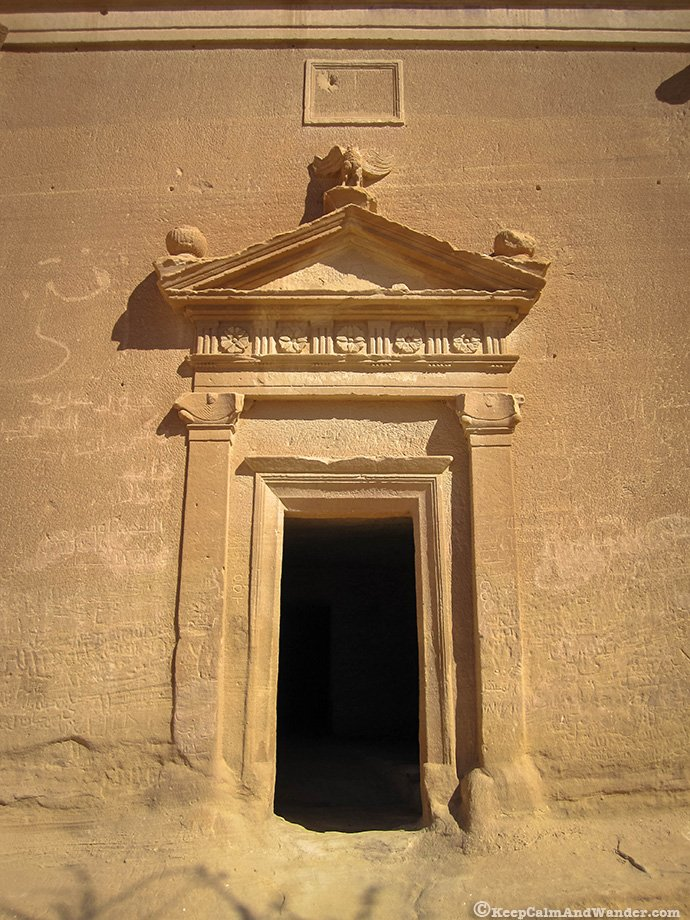 Qasr Al Bint has the largest tomb facade at Madain Saleh (Saudi Arabia).