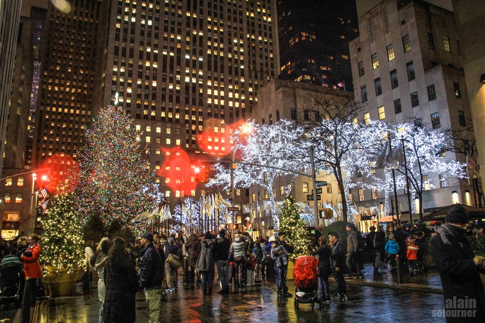 Christmas in Rockefeller Center, New York.