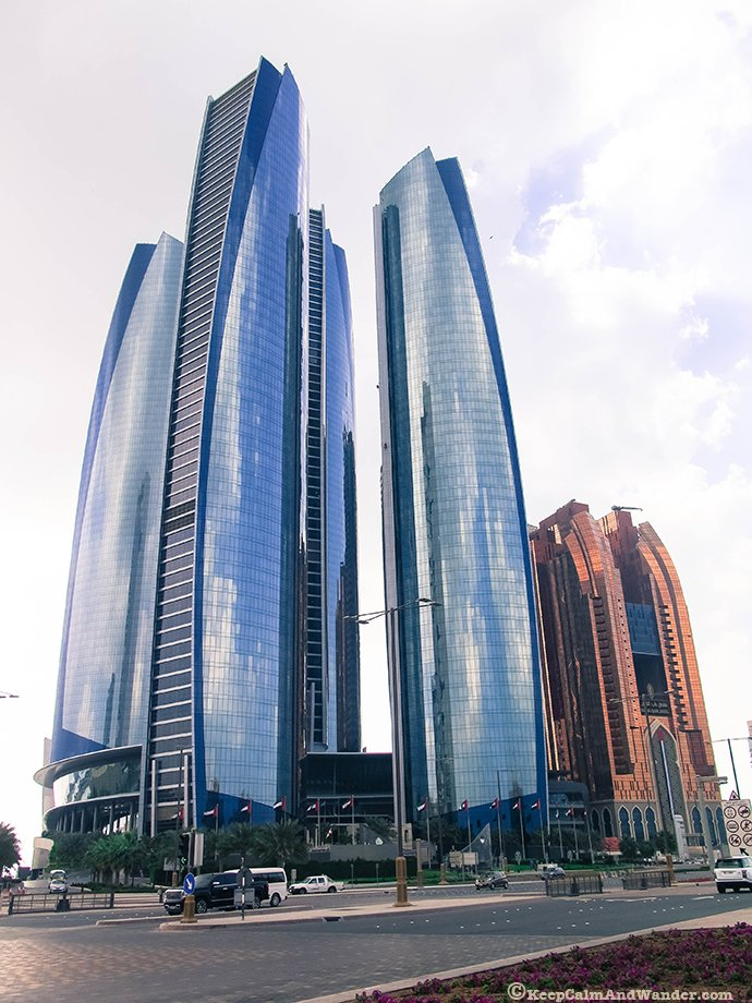 Etihad Towers in Abu Dhabi, UAE.