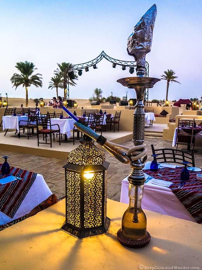 Arabian Night in the desert outside Dubai.