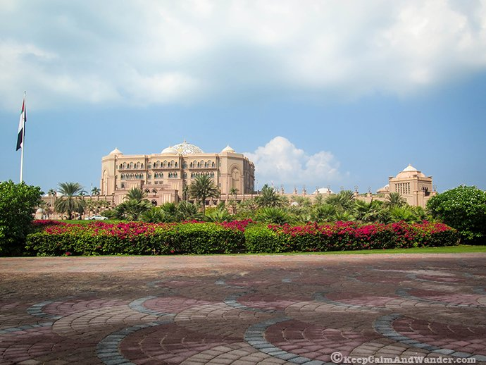 The Emirates Palace in Abu Dhabi, UAE.