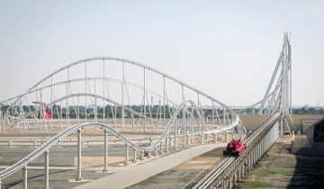 vFormula Rossa is the world's fastest rollercoaster at Ferrari World, Yas sland, Abu Dhabi.