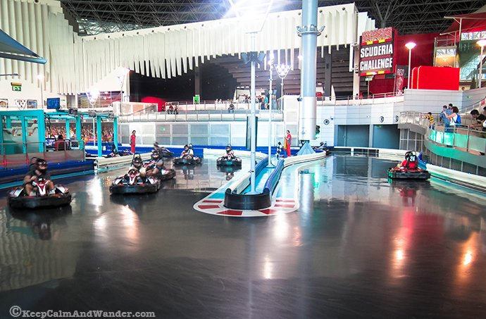 Karting Academy at Ferrari World, Yas Island, Abu Dhabi, UAE.