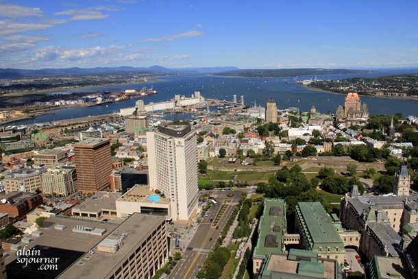 View of Quebec City from the Observatoire de la Capitale.