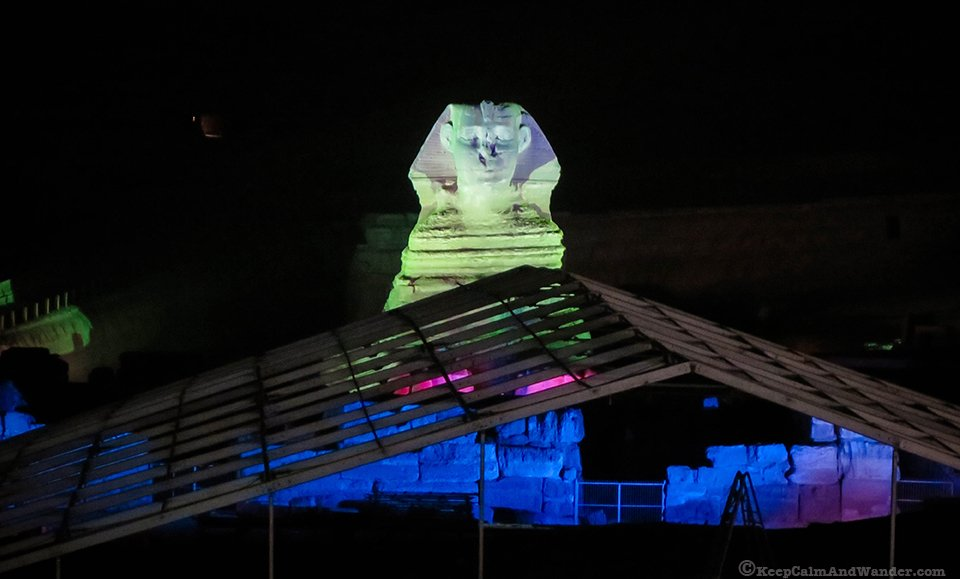 The Light and Sound Show at the Pyramids.