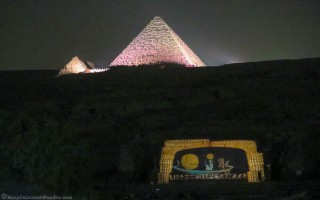 The Light and Show at the Pyramids.
